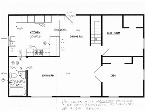 floor layout free kitchen floor plans