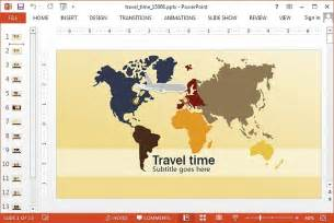 powerpoint templates travel animated travel powerpoint template