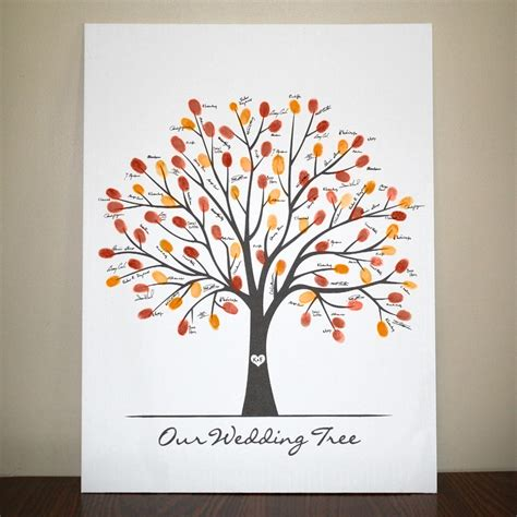 fall canvas wedding tree 18x24 by lovliday on etsy