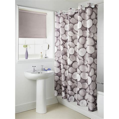 b and m shower curtain hookless pebble photo shower curtain 3039342 b m