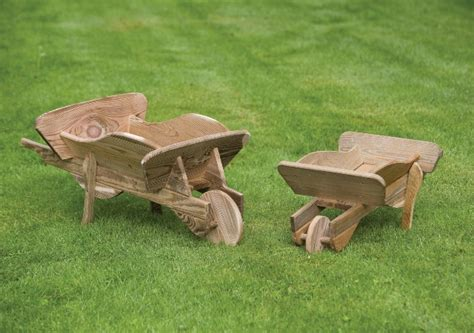 Wooden Wheelbarrow Planter by Large Wooden Wheelbarrow Planter H40cm X L90cm 163 49 99