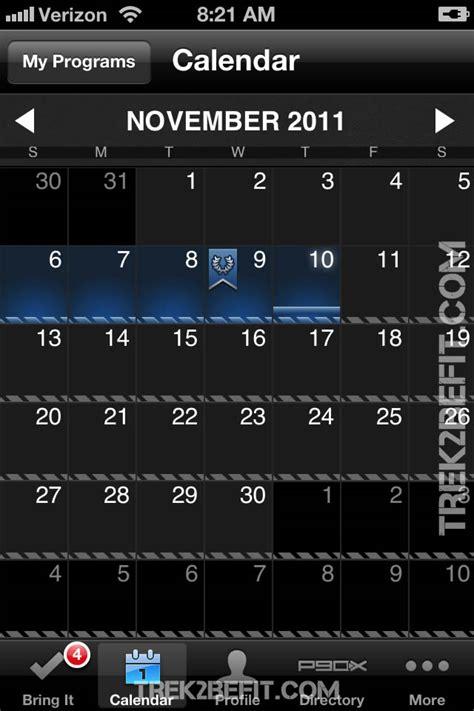P Calendar App P90x App P90x Iphone App Lets You Take P90x Anywhere
