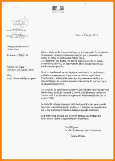 Exemple De Lettre En Francais Modele Lettre Officielle