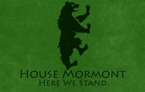 House Mormont by Wallpaper Black Sigil A Song And House