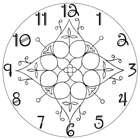 cool clock face make a clock the daily skein