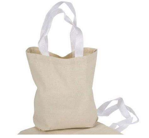 craft bags 12 canvas tote bags color 8 quot x 8 quot new small blank