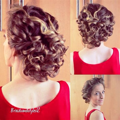 half up hairstyles for short curly hair hollywood official prom hairstyles for curly hair half up half down