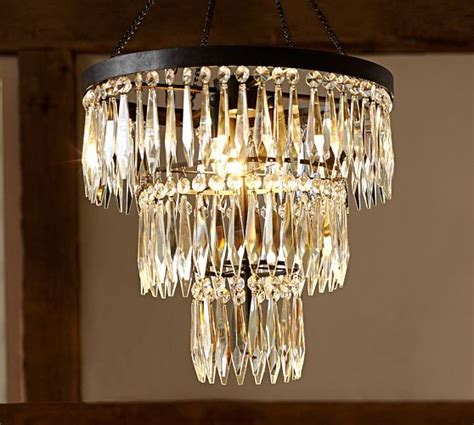 Pottery Barn Lighting Sale a glam chandelier makes a house a home pottery barn 20