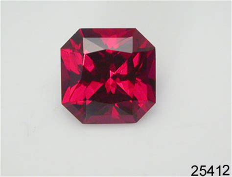 9 08 Ct Blood Ruby ruby gemstones faceted lab grown created rubies