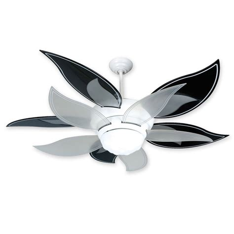 blooming flower ceiling fan 52 quot craftmade bloom flower ceiling fan bl52w w bbl52blk