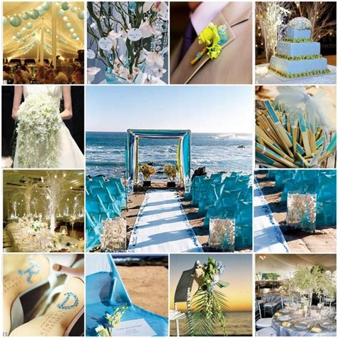 d 233 coration de mariage th 232 me mer bleue comme l eau