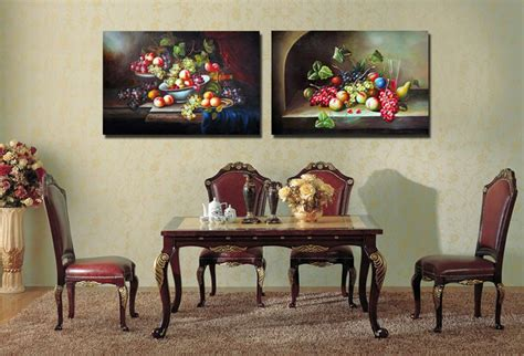 painting calligraphy flower fruits kitchen dining room decor canvas painting home decoration