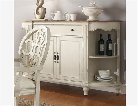 White Dining Room Server by Coaster 104245 Country Antique White Oak Wood Dining Server Cabinet Dining Room