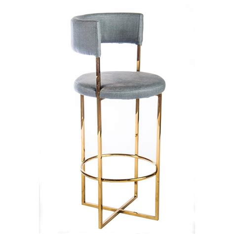 Gold And White Stool by Carrie Blue Gold Bar Stool