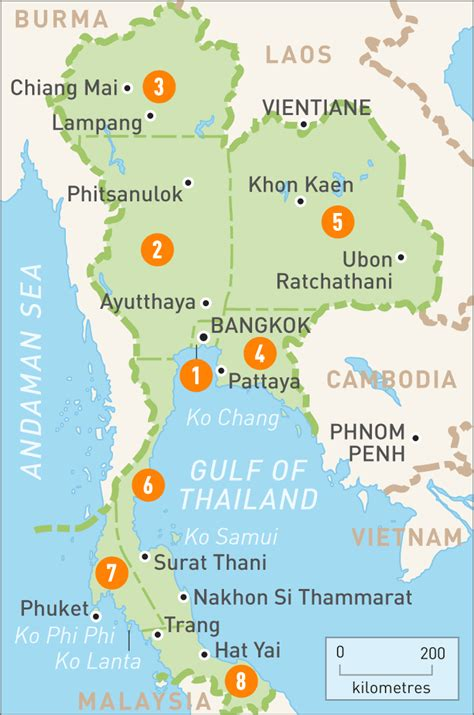 thailand graphic design  illustration map travel