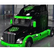 Peterbilt 579 Monster Energy Skin Mod  American Truck