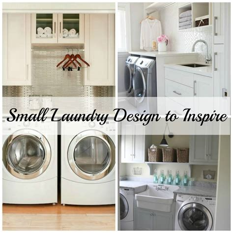 Small Laundry Room Ideas Pinterest Small Laundry