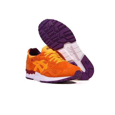 orange purple shoes asics gel lyte v 5 orange pop orange pop purple s