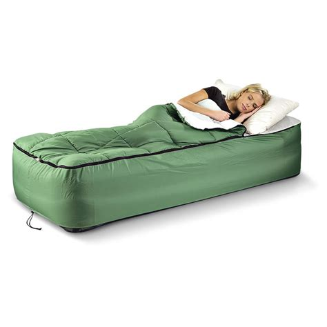 sleeping bed guide gear twin air bed fitted cover sleeping bag 133847