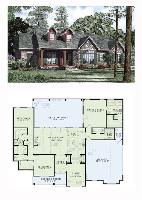 open ranch house plans country craftsman ranch traditional house plan 61297
