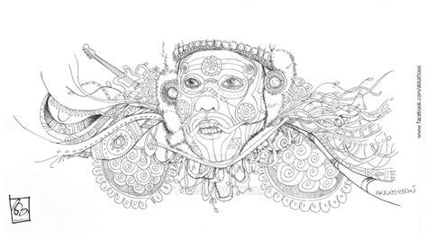 doodle 3 indian price theyyam kerala doodle by akkattoos on deviantart