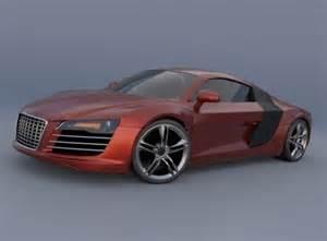 audi r8 sports car 3d model obj 3ds fbx lwo lw lws