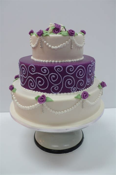 how to decorate cakes at home classic purple and white wedding cake with marzipan roses