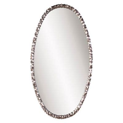 buy framed oval bathroom mirror from bed bath beyond buy decorative oval mirror with silver finish from bed