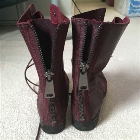 wine colored boots 70 aldo shoes wine colored aldo combat boots size