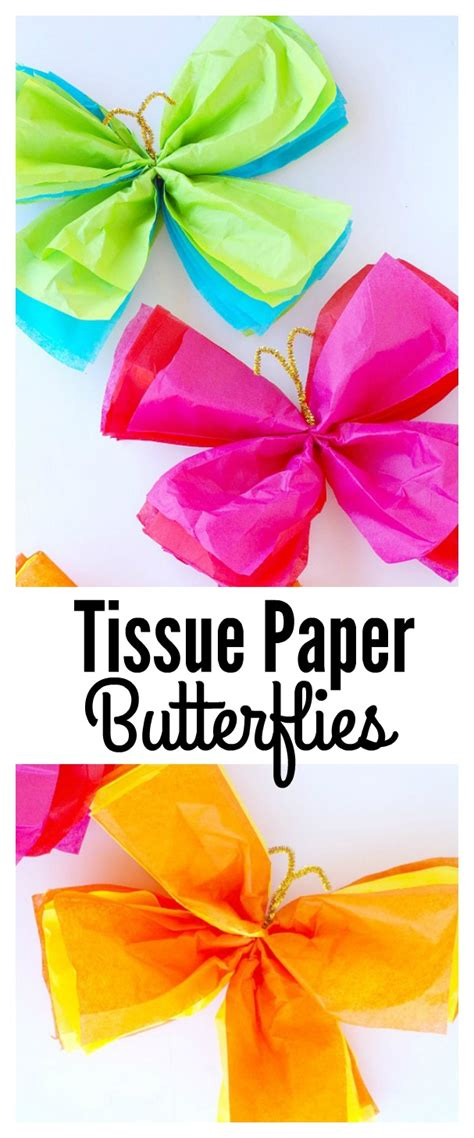 How To Make A Butterfly Out Of Tissue Paper - how to make a butterfly with tissue paper 28 images 3