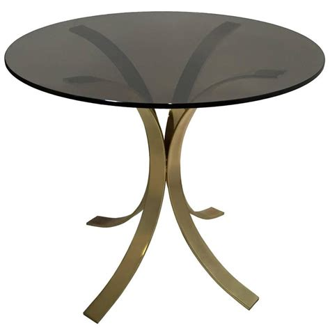 brass dining table base brass tulip base dining table at 1stdibs