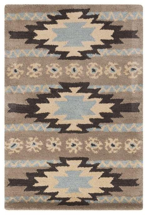 Santa Fe Rugs by Surya Santa Fe Tufted Khaki Southwestern Wool Rug 2