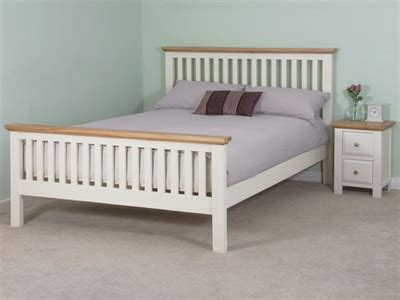oak express beds furniture express london white bedstead oak trim 5 king