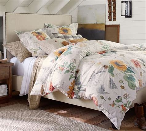 fillmore square upholstered bed headboard pottery barn