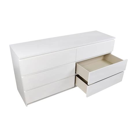 ikea drawer organizer 26 off ikea ikea malm 6 drawer white dresser storage