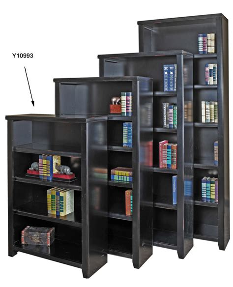 black wood veneer bookcases 48 quot h bookcase