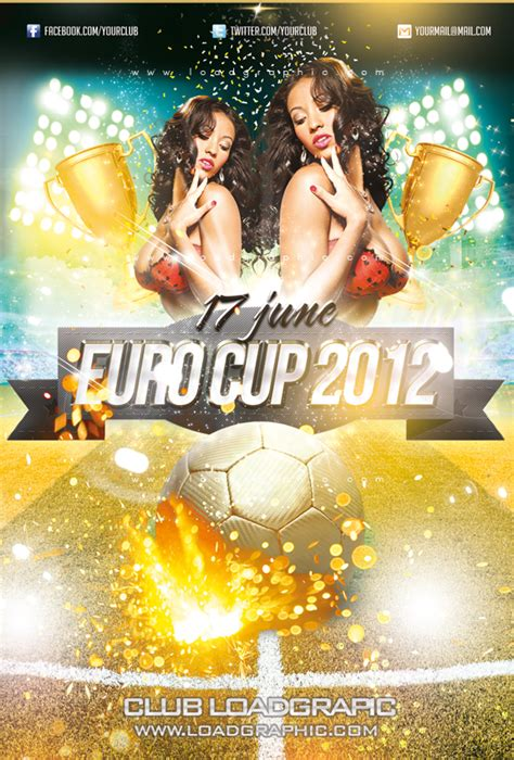 free psd graphics euro soccer cup flyer template by