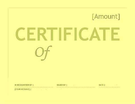 certificate template word 2007 gift certificate template word for microsoft