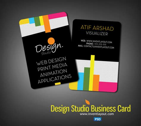name card design template psd 100 free psd business card templates