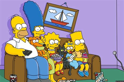 simpsons on couch canadian simpsons fans got a good couch gag