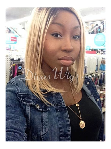 light silky keri hilson straight blonde medium length remy human stock keri hilson inspired full lace human hair bob