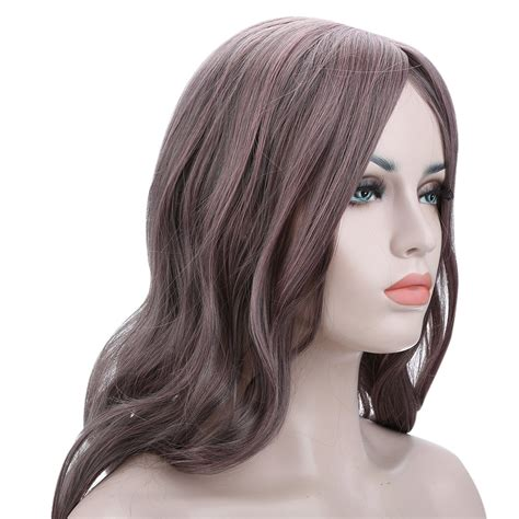 gradient grey hairstyles for 50 gradient gray pink curly full long hair cosplay party