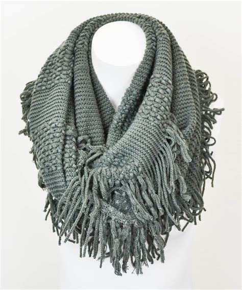 charcoal fringe infinity scarf dresses and other cool