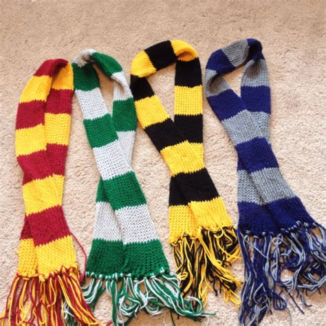 harry potter inspired house scarves by lishachan on deviantart