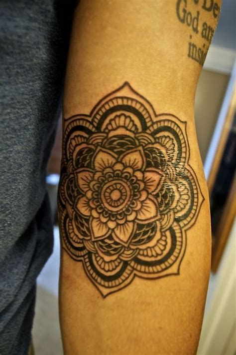 lotus tattoo elbow i would love to get a hamsa or mandala styled tattoo in