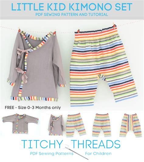 kimono pattern free download little kid kimono by laura tt sewing pattern