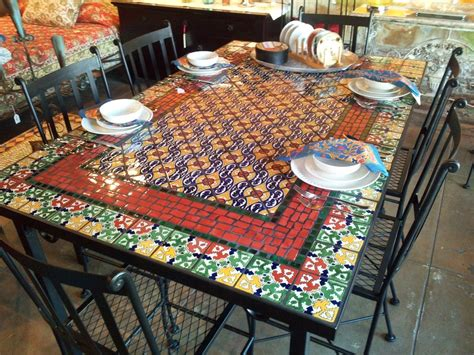 Mosaic Kitchen Table Mosaic Bar Height Table 187 Counter Height 24 Quot Barstool