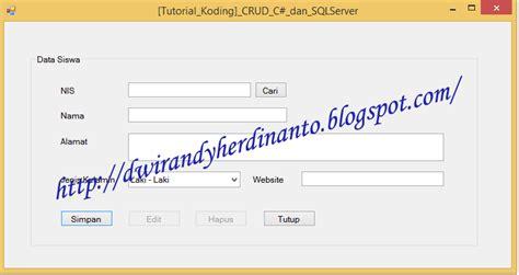 membuat crud dengan php dan sql server crud dengan c dan sql server tutorial koding