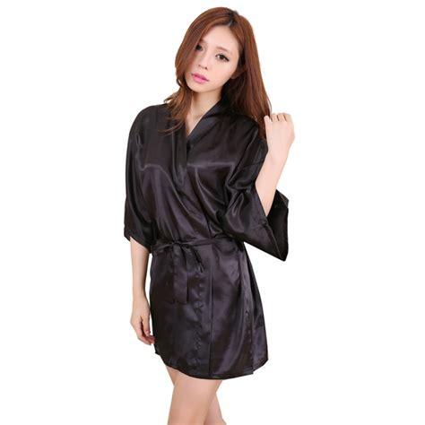 dua lipa robe women sexy large size faux silk satin night kimono robe