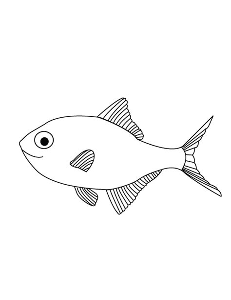 Free Coloring Pages Of Fish Outline Template Fish Outline Coloring Page